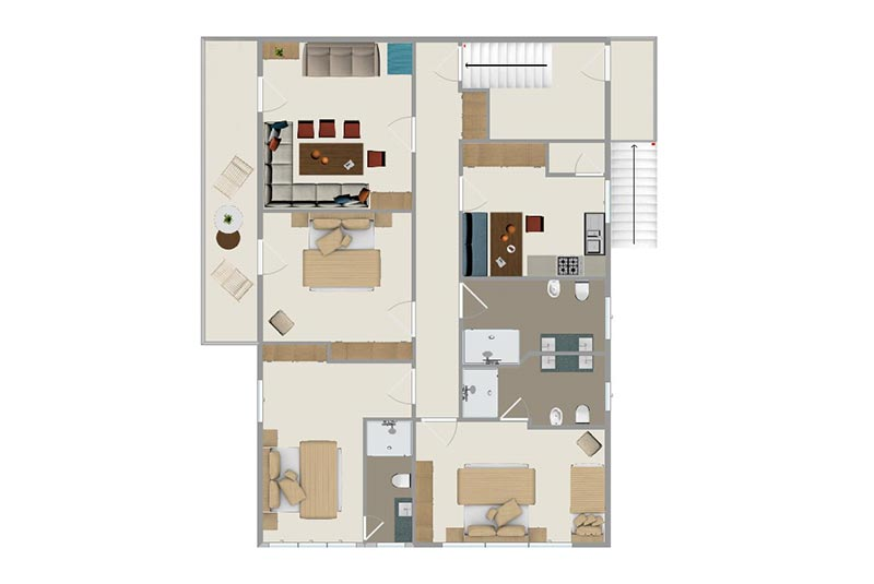 Map apartment - Saslonch
